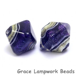 10604307 - Five Indigo Jewel Ridge Crystal  Shaped Beads