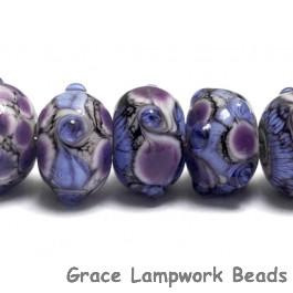10605201 - Seven Lavender Rock River Rondelle Beads