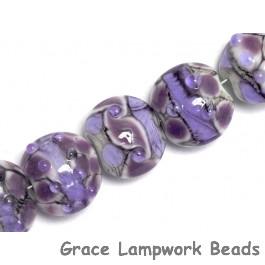 10605202 - Seven Lavender Rock River Lentil Beads