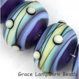 Blue Grace Lampwork Beads