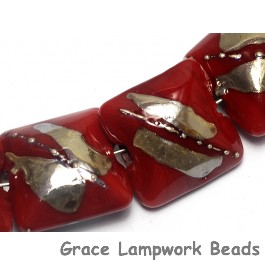 10704204 - Seven Regal Red Metallic Pillow Beads