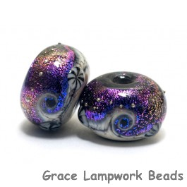 10706301 - Seven Amethyst Jewel Celestial Rondelle Beads