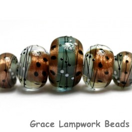 10903211 - Five Smokey Bronze Graduated Rondelle Beads