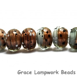10903241 - Eight Smokey Bronze Rondelle Beads