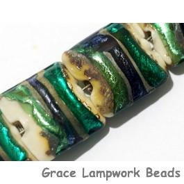 11005504 - Seven Green/Ivory Pillow Beads