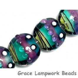 11008712 - Four Begonia Stripes Lentil Beads