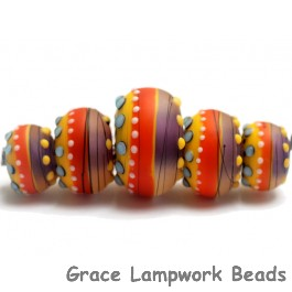 11008811 - Five Barcelona Matte Graduated Rondelle Beads