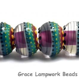 11009021 - Six Rio de Janeiro Gloss Rondelle Beads