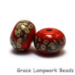 11102701 - Seven Coral w/Beige Rondelle Beads