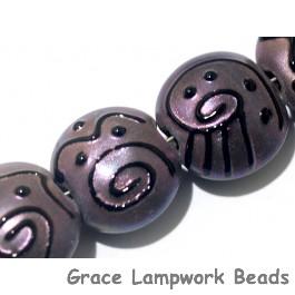 11204502 - Seven Light Purple Pearl Surface Lentil Beads