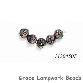 11204507 - Five Light Purple Pearl Surface Crystal Beads