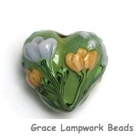 11805705 - Green w/Light Brown Flower Heart