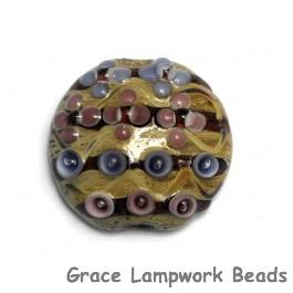 11805802 - Purple w/Beige Lentil Focal Bead