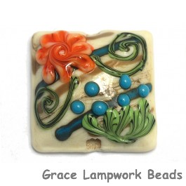 11809204 - Turquoise Autumn Pillow Focal Bead