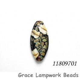 11809701 - Dark Brown w/Ivory Oval Focal Bead