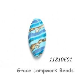 11810601 - Turquoise/Light Blue Twist Oval Focal Bead