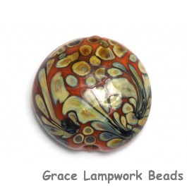 11811702 -  Coral w/Beige Lentil Focal Bead