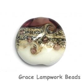 11812402 - Amethyst w/White Lentil Focal Bead