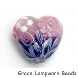 11812505 - Light Pink Flower w/Purple Heart