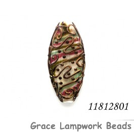 11812801 - Metal Finished Stringer w/Pink Oval Focal Bead