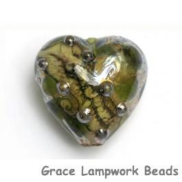 11813905 - Green w/Silver Foil Heart