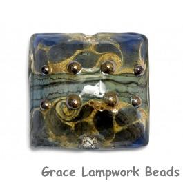 11814104 - Blue Gray w/Silver Foil Pillow Focal Bead