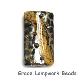 11815203 - Transparent Black w/Silver Foil Kalera Focal Bead