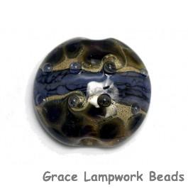 11815302 - Black w/Purple Silver Lentil Focal Bead