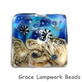 11815904 - Transparent Blue Seashell Pillow Focal Bead