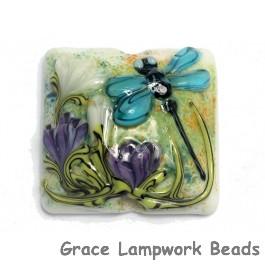 11816604 - Blue Dragonfly w/Purple Flora Pillow Focal Bead
