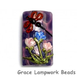11816703 - Red Dragonfly/Violet Garden Kalera Focal Bead