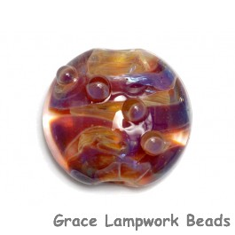 11817402 - Yellow-orange & Purple Lentil Focal Bead