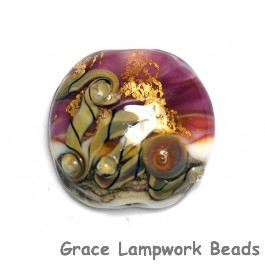 11818402 - Cranberry Treasure Lentil Focal Bead
