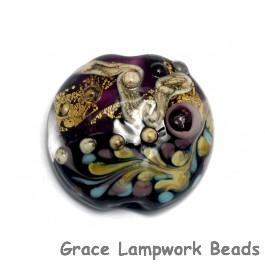 11818502 - Amethyst Treasure Lentil Focal Bead