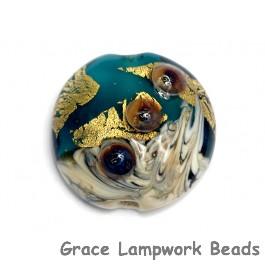 11819302 - Teal Treasure Lentil Focal Bead