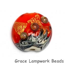 11819902 - Fire Island Treasure Lentil Focal Bead