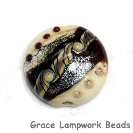 11831302 - Dark Cherry Stardust Lentil Focal Bead