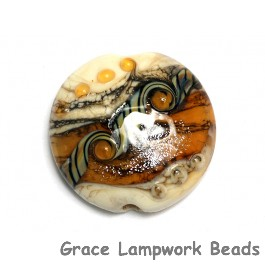 11831402 - Butterscotch Stardust Lentil Focal Bead