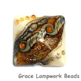 11831404 - Butterscotch Stardust Pillow Focal Bead