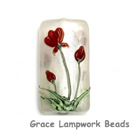 11832103 - Crimson Flower Kalera Focal Bead