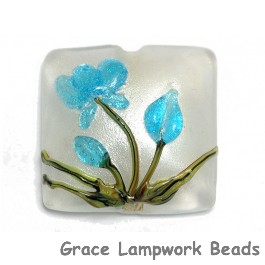 11832404 - Maya Blue Flower Pillow Focal Bead