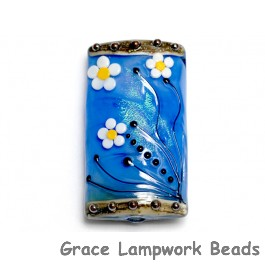 11838403 - Arctic Blue Florals Kalera Focal Bead