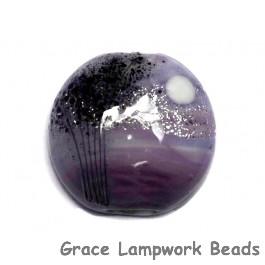 11839502 - African Violet Moonlight Lentil Focal Bead