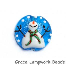 11839802 - Juggling Snowman Lentil Focal Bead