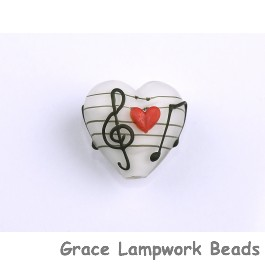 Grace Lampwork Beads, Hawaii Beach Sunset, heart