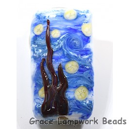 The Starry Night Glass Beads