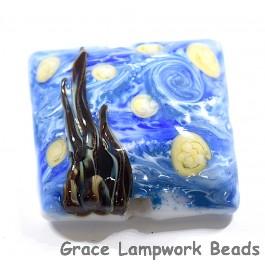 The Starry Night Pillow Focal Bead