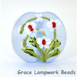 White Orchid Glass Bead