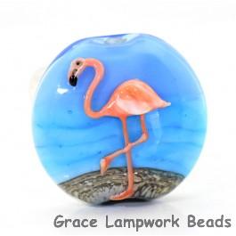 Flamingo Lentil Focal Bead