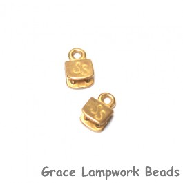 Silver Silk - Gold Plated Brass 5mm End Caps - Pair